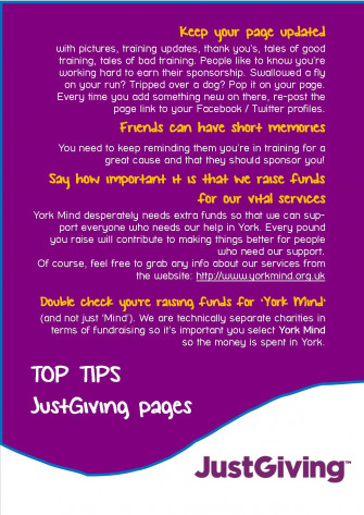 Top Tips for JustGiving