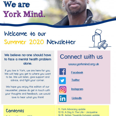 York Mind Newsletter Summer 2020